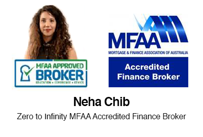 MFAA Approved Broker Neha Chib Zero to Infinity Mortgage Brokers Sydney